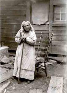 Sylvia Stark outside her home on Saltspring Island.